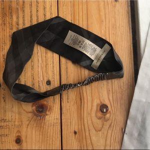 Burberry Head Wrap Band Scarf Grey Black